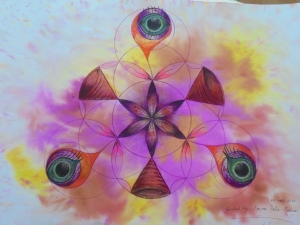 Geometry, my art, Flower of life, third eye